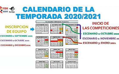 Calendario de la temporada 2020/2021